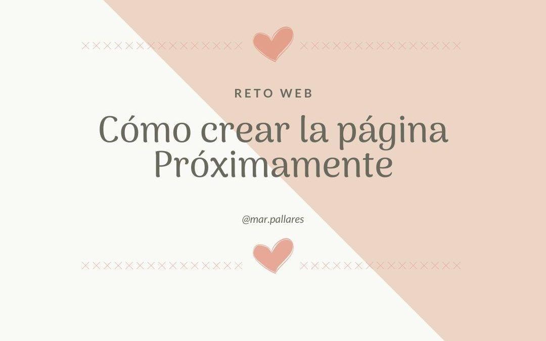 Crear la Página Próximamente