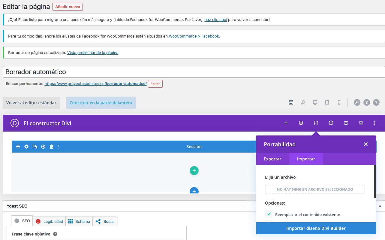 como instalar página Próximamente