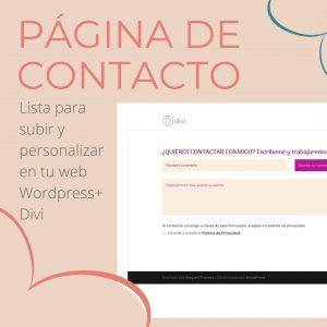 pagina de contacto descargable