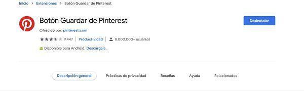 instalar extension de Pinterest para Etsy por Mar Pallares