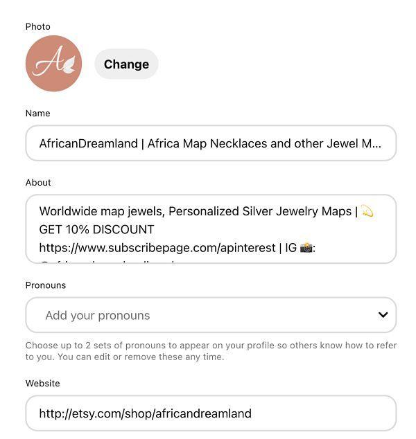 optimizar tu cuenta pinterest para etsy